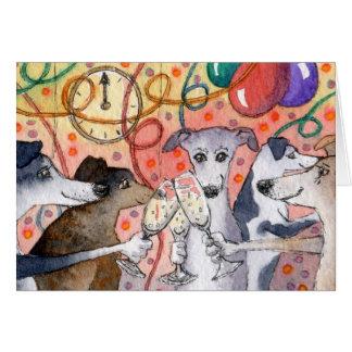 Cartão Sighthounds é os animais de partido originais…