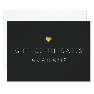 Cartão Signage do promocional do certificado de presente