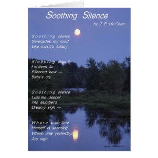 Cartão Silêncio reconfortante Notecard