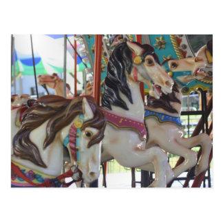 Cartão silencioso da foto do cavalo do carrossel