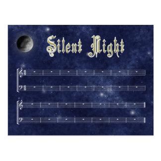 Cartão silencioso da noite