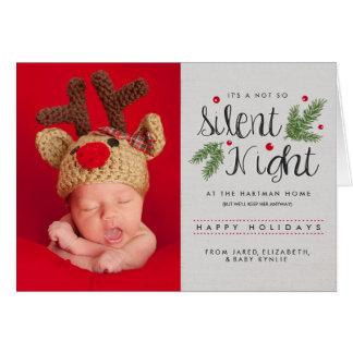 Cartão silencioso do anúncio do nascimento da