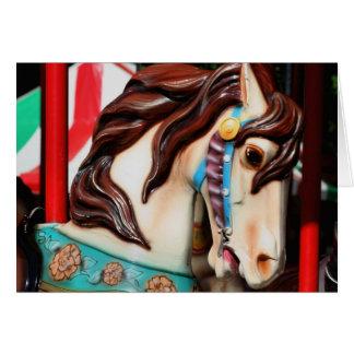Cartão silencioso do cavalo do carrossel do Steed