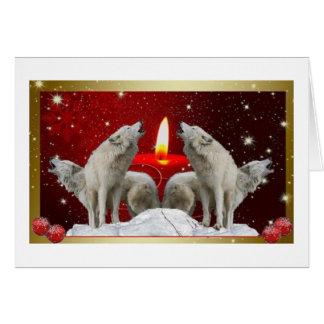 Cartão silencioso do feriado dos cantores da noite