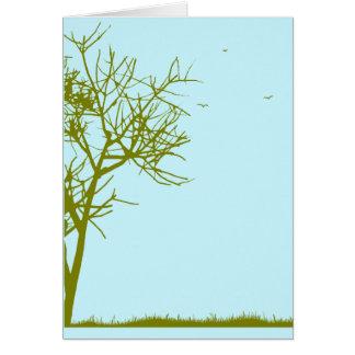 Cartão silhueta da árvore