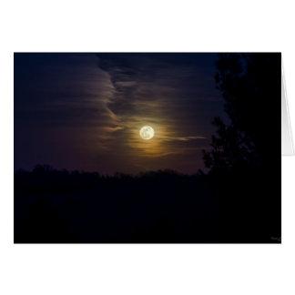 Cartão Silhueta da lua