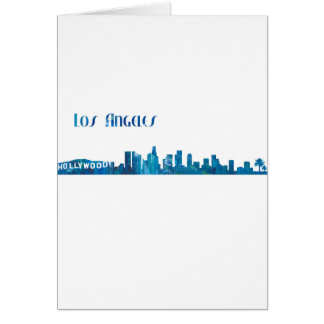 Cartão Silhueta da skyline de Los Angeles