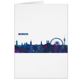 Cartão Silhueta da skyline de Munich