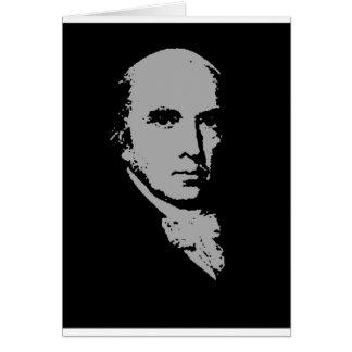 Cartão silhueta de James Madison