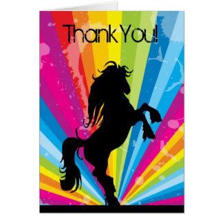 Cartão Silhueta de Techno do arco-íris que eleva o