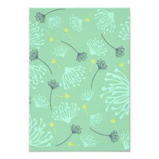 Cartão Silhueta do dente-de-leão