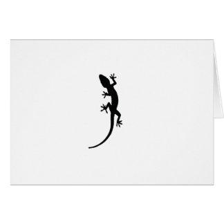 Cartão Silhueta do lagarto