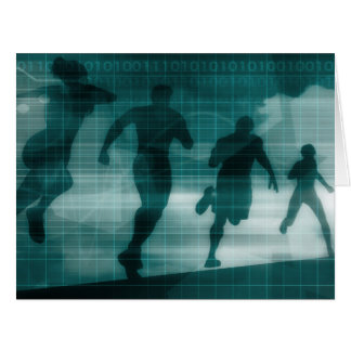 Cartão Silhueta do software do perseguidor do App da