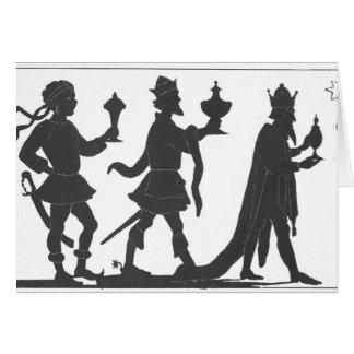 Cartão Silhueta dos três reis
