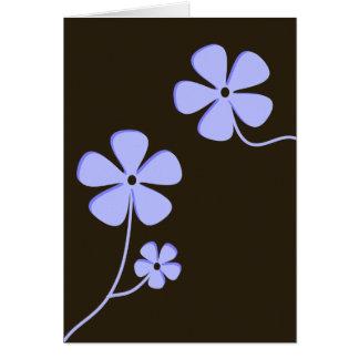 Cartão Silhueta floral moderna