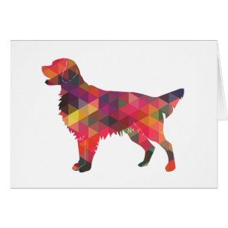 Cartão Silhueta geométrica do cão revestido liso do