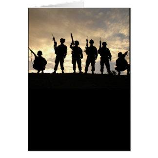 Cartão Silhuetas do soldado