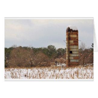 Cartão Silo na neve