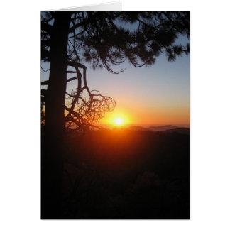 Cartão silouettes 2 do por do sol