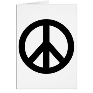 Cartão Símbolo branco preto do sinal de paz