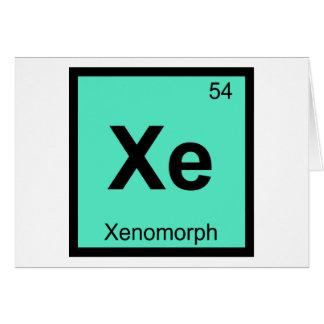 Cartão Símbolo da mesa periódica da química de Xe - de