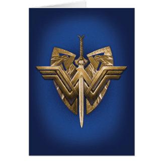 Cartão Símbolo da mulher maravilha com a espada de