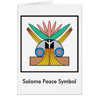 Cartão Símbolo de paz de Salome