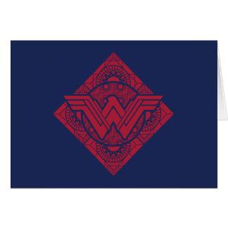 Cartão Símbolo do Amazonas da mulher maravilha