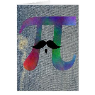 Cartão Símbolo do Moustache do Pi