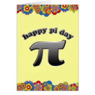 Cartão Símbolo feliz do dia | Pi do Pi para matemática