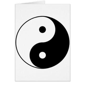 Cartão Símbolo filosófico inspirador de Yin e de Yang