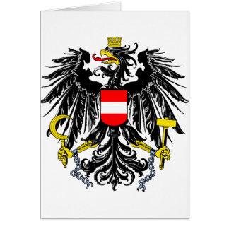 Cartão Símbolo oficial da heráldica da brasão de Áustria