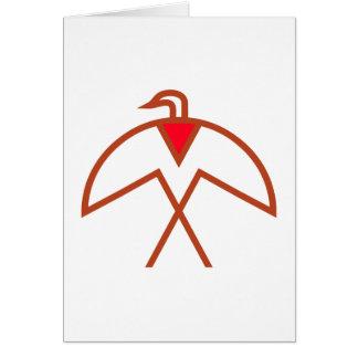 Cartão Símbolo pássaro índio bird American Native