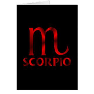 Cartão Símbolo vermelho do horóscopo da Escorpião