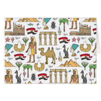Cartão Símbolos da cor do teste padrão de Egipto