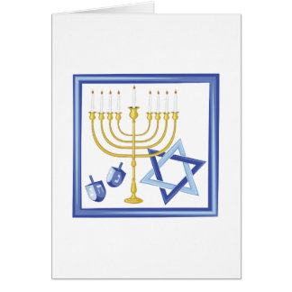 Cartão Símbolos de Hannukah