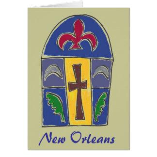 Cartão Símbolos de NOLA, Nova Orleães