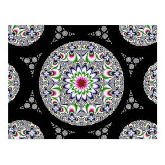 Cartão simétrico da flor de Physcedelic