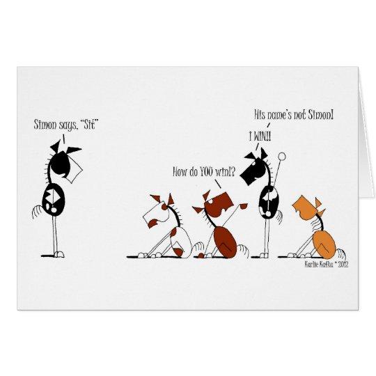 Cartão Simon engraçado diz desenhos animados