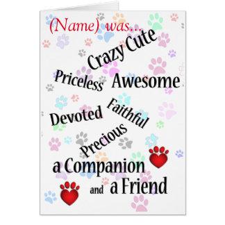 Cartão Simpatia bonito louca memorável do animal de