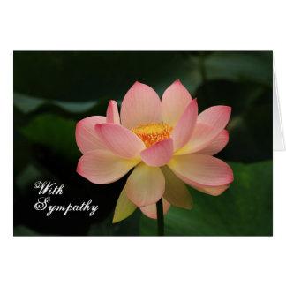 Cartão Simpatia budista floral cor-de-rosa original de