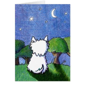 Cartão Simpatia da perda do animal de estimação de Westie