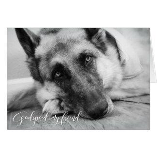 Cartão Simpatia da perda do animal de estimação do german