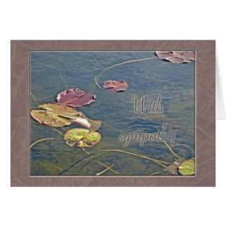 Cartão Simpatia de Lilypads do outono