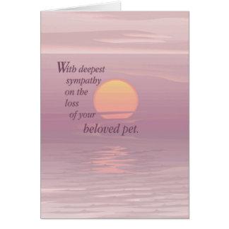 Cartão Simpatia do animal de estimação do nascer do sol