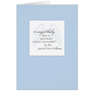 Cartão Simpatia do azul de 2652 asas do bebê do anjo