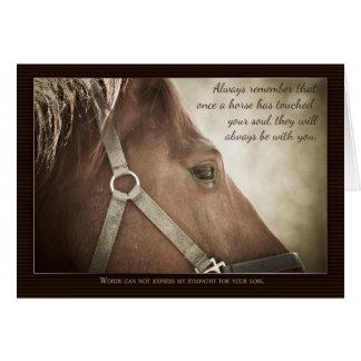 Cartão Simpatia do cavalo com palavras agradáveis