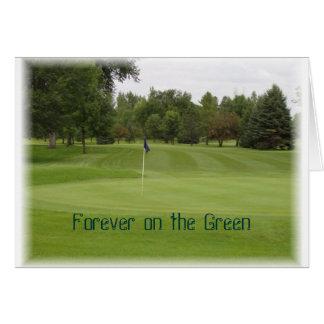 Cartão simpatia do golfe