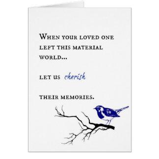 Cartão Simpatia e pêsames