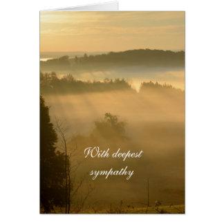 Cartão Simpatia etéreo da paisagem do alvorecer